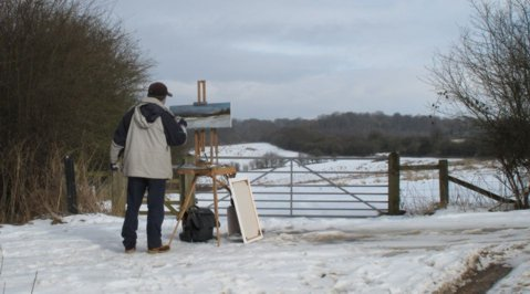 Painting in the Chiltern Hills